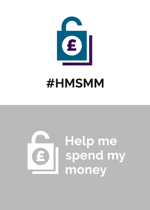 Help Me Spend My Money Logo